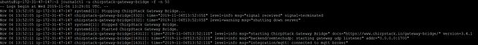 Gateway Bridge Journal Control output (no errors)