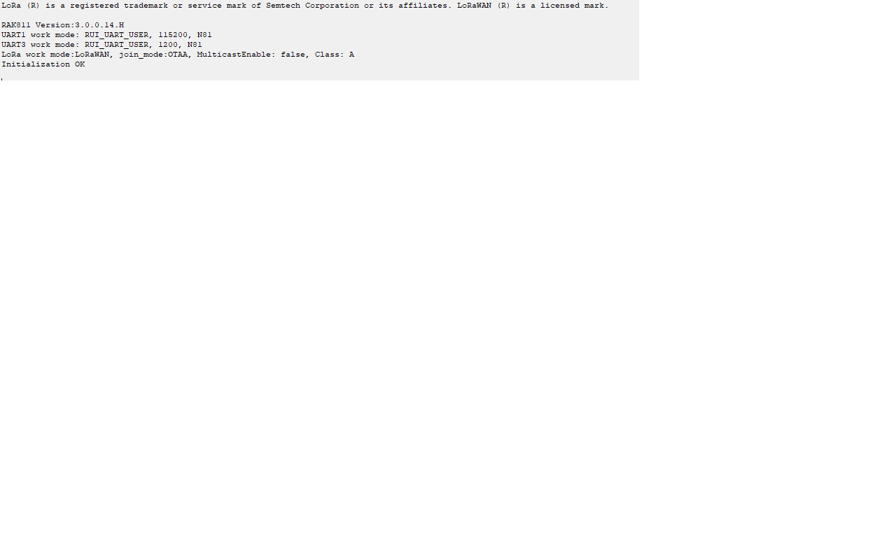 RAK811 Error